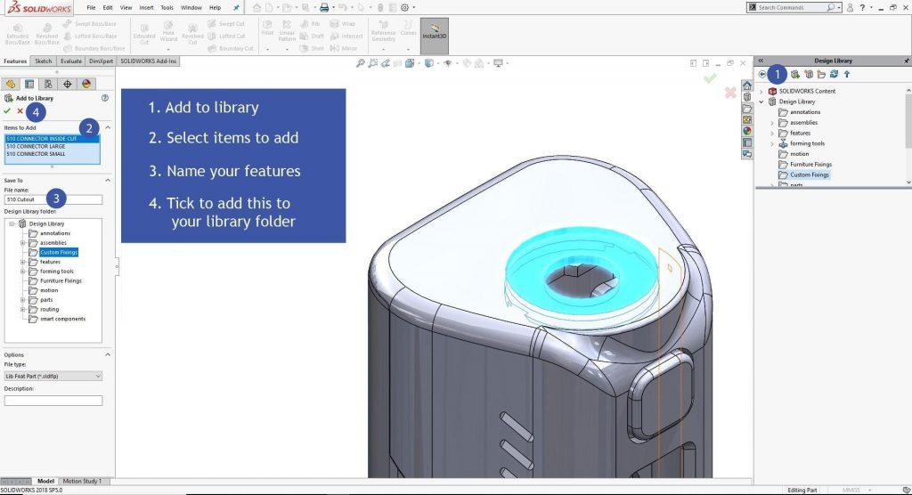 SolidWorks Smart Features 3D Vape Model