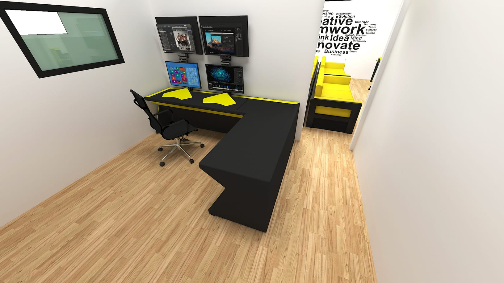 3d rendering services office 4 pc
