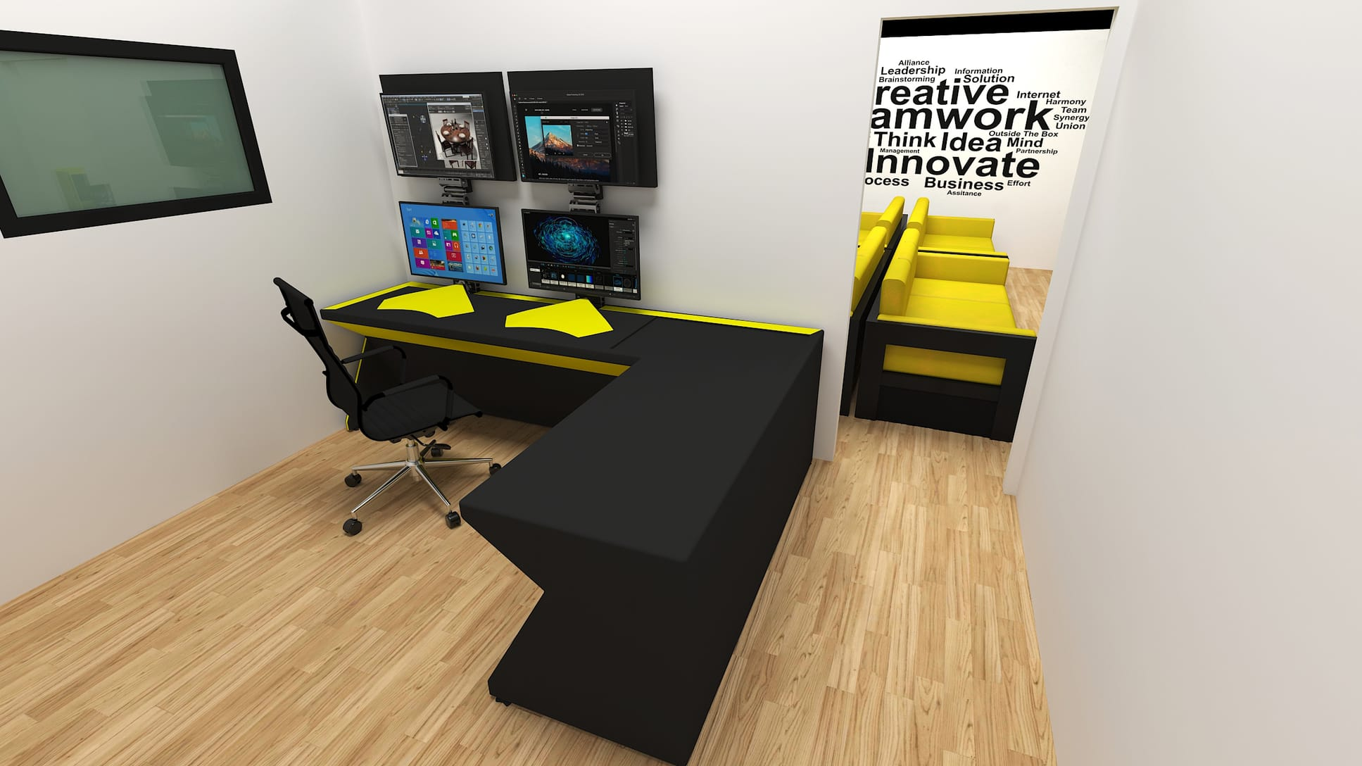 3d rendering services office