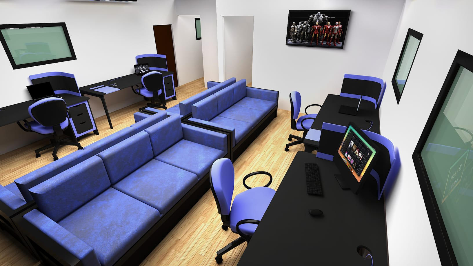 3D Product Visualisation of a office building